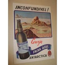 Cartaz.propaganda Antiga Cerveja.antarctica.brahma.