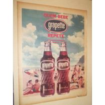 Cartaz.poster.placa.propaganda Antiga Grapette Anos 50.