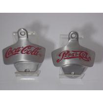 Abridor De Garrafa De Parede Coca Cola Em Aço Escovado
