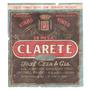 Rótulo Do Vinho De Mesa Tinto Suave Clarete - Safra 1953