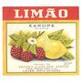 Rótulo Antigo Do Xarope De Limão