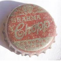 Tampinhas Antigas - Cerveja Brahma Chopp (fundo Prata)