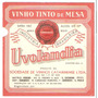 Rótulo Do Vinho De Mesa Tinto Uvolândia - Safra 1964