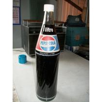 Antiga Garrafa Pepsi 1 Litro Lacrada Anos 90