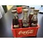 Caixa Miniatura Coca Cola Com 6 Garrafinhas