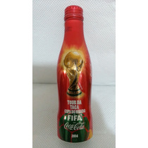 Kit Com 6 Garrafas Coca Cola Alumínio 250ml Tour Fifa 2014