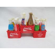 Antigas Mini Garrafas Coca Cola Atenas 2004 Plastico
