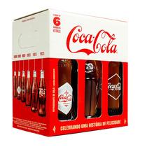 Kit 6 Garrafas Históricas Coca Cola-edição Limitada 100 Anos