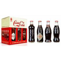 Kit Coca Cola Garrafas Vintage Colecionador 120 Anos Retro