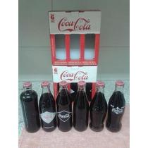 6 Garrafas Coleção Historica Coca Cola Serie Limitada Brasil