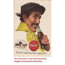 Cartaz Propaganda Antiga Coca Cola Década 50