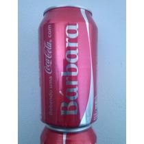 Lata Coca Cola 350ml Personalizada Coleção Nome Barbara