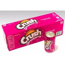 Refrigerante Crush Strawberry Morango 6 Latas 355ml Import