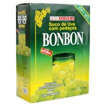 Suco Uva Verde Pedaços Coreano Bon Bon Caixa 12 Latas Hachi8