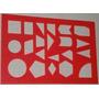 Régua Geométrica Febe Vermelha Nada Quebrado Saquinho Ok