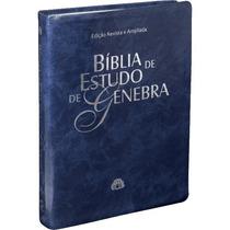 Bíblia De Estudo Genebra - Revista E Atualizada - Azul Nobre