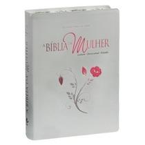 Bíblia Da Mulher Bordas Floridas Grande 17x23 Frete Grátis