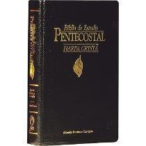 Bíblia De Estudo Pentecostal Média C/ Harpa Frete Grátis