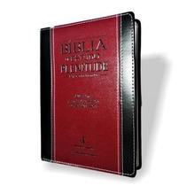 Bíblia De Estudo Plenitude Preta/vinho Com Índice Frete Grát