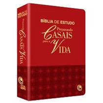 Bíblia De Estudo Preparando Casais Para Vida - Luxo Vermelha