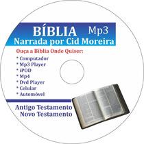 Bíblia Mp3 Completa At+nt - Cid Moreira - Frete Grátis
