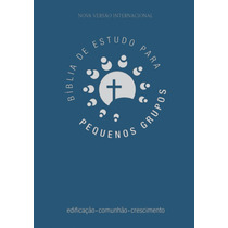 Bíblia De Estudo Para Pequenos Grupos - Luxo Azul
