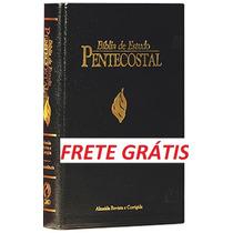 Bíblia De Estudo Pentecostal Preta-luxo-pequena-frete Grátis