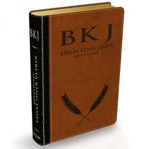 Bíblia De Estudo Versão King James Bkj Luxo Marrom E Preta