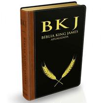 Bíblia De Estudo Versão King James Luxo (bkj) Preta E Marrom