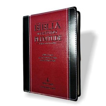 Bíblia Plenitude De Estudo Palavras Jesus Verm. Frete Grátis