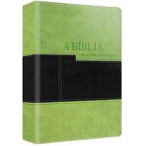 Bíblia De Estudo Cronológica - Capa Luxo Bícolor - Em 12x