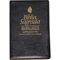 Bíblia Sagrada Harpa Letras Jesus Em Vermelho Letra Gigante