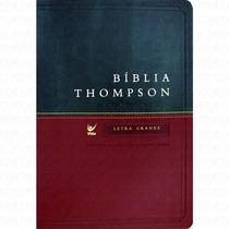 Bíblia De Estudo Thompson. Letra Grande P/ Jesus Em Vermelho