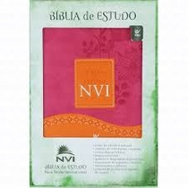 Bíblia De Estudo Nvi - Capa Luxo - Rosa