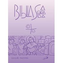 Bíblia Média Edição Pastoral, Editora Paulus - Lilás