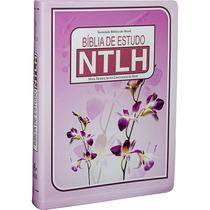 Promoção Imperdivel Bíblia De Estudo Ntlh Grande Rosa