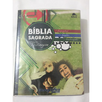 Bíblia Nvi Trilíngue- Inglês/português/espanhol-frete Gratis