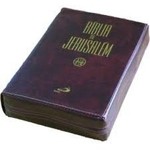 Bíblia De Jerusalém Média Capa Couro C/ Ziper Edição De Luxo