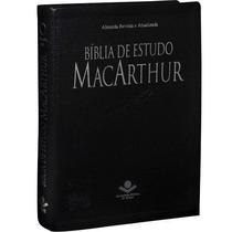 Bíblia De Estudo Macarthur - Capa Couro, Preto Nobre