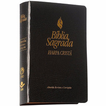 Bíblia Sagrada Almeida Com Harpa Cristã Letra Maior Preta