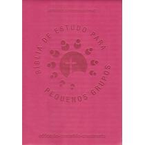 Bíblia De Estudo Para Pequenos Grupos - Nvi - Grande - Rosa