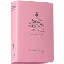Biblia Sagrada Harpa Cristã Letra Grande ( Rosa )