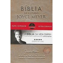 Bíblia De Estudo Joyce Meyer - Dourada Luxo Letra Grande Nvi