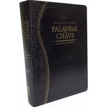 Bíblia De Estudo Palavras-chave Luxo Preta Clássica