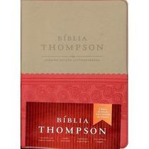 Bíblia De Estudo Thompson Bege/vermelha Concordância Mapas