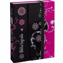 Bíblia Sagrada Feminina Letra Grande Capa Dura Rosa