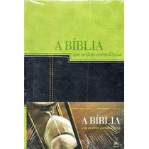 Bíblia De Estudo Em Ordem Cronológica Nvi Preta E Verde