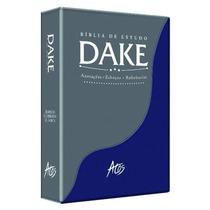 Biblia Dake 2015 C/ Dicionário Enciclopédico - Azul E Cinza