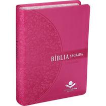 Bíblia Feminina Letra Grande Borda Florida Ra