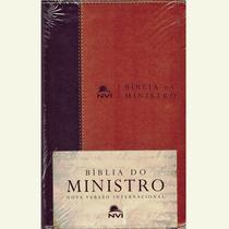 Bíblia Do Ministro Nvi - Média - Luxo Marrom
